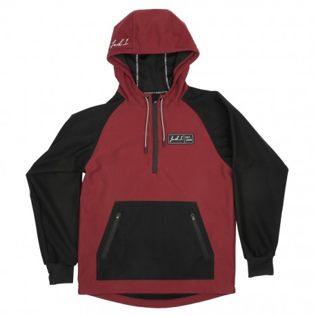 Level 1 x Saga Anorak Bonded Pullover - Red
