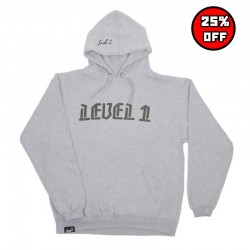Blackletter Hoodie - Heather Grey