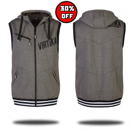 Hoodie Vest - Heather Gray
