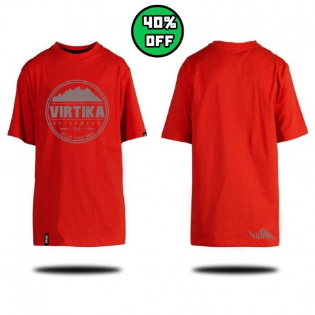 Badge Tee - Red