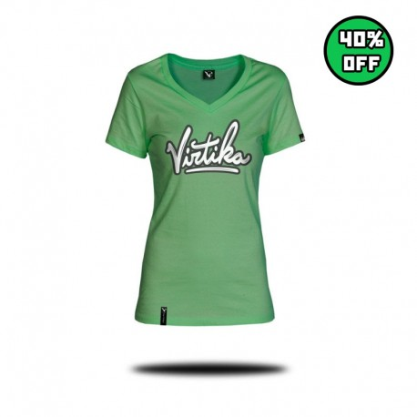 Women V-Neck Tee - Green